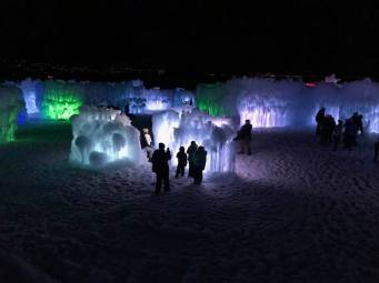 Ice Castles at Night 2