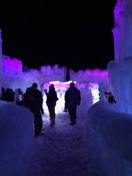 Ice Castles at Night