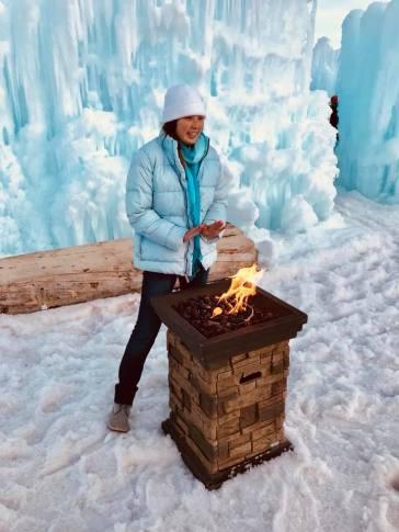Yingka at Fire Pit