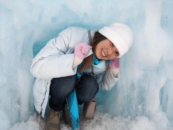 Yingka in Ice Crevice