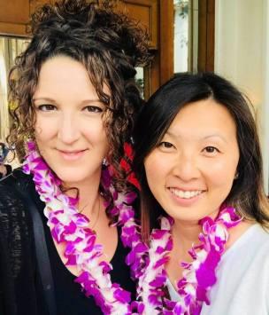 Carla and Yinka Floral Leis