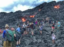 Crowds at Lava Field