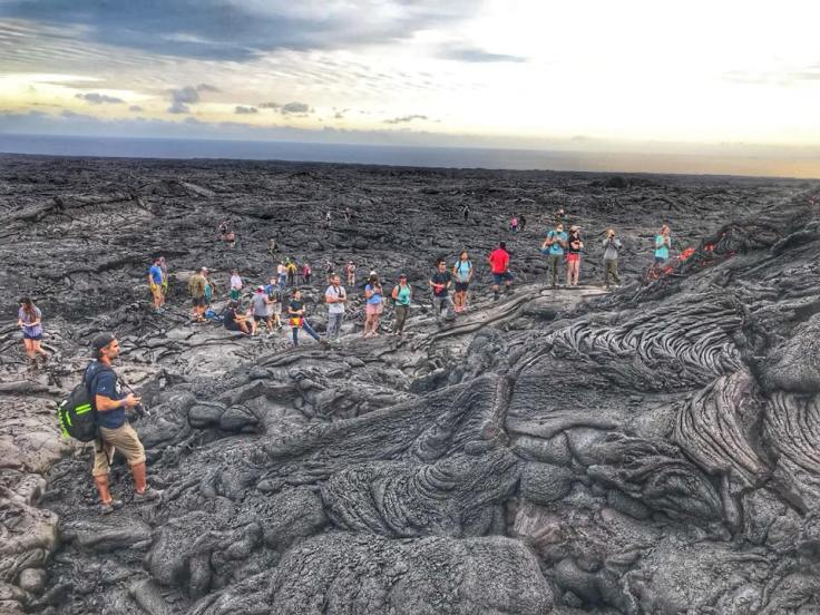 Crowds on Lava Field Horizon