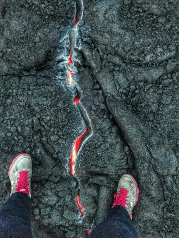 Lava Between Feet