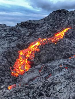 Lava Flow at Dusk