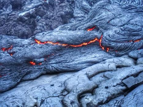 Lava in the Cracks