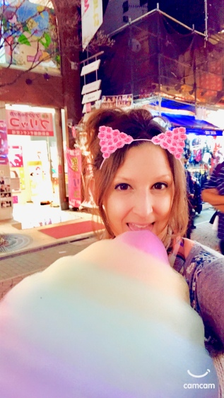 Get a giant cotton candy at Totti Candy Factory