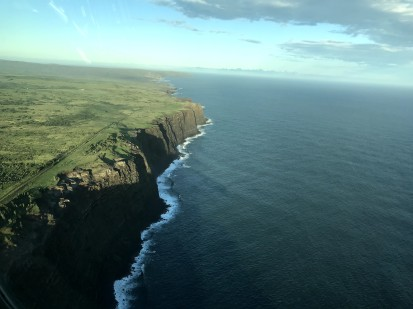 Kalaupapa - Coast Cliffs from Plane