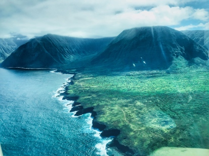 Kalaupapa - Coast from the air