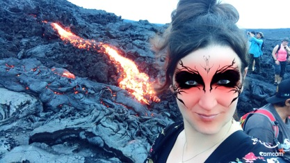 Lava - Selfie with Pele Filter
