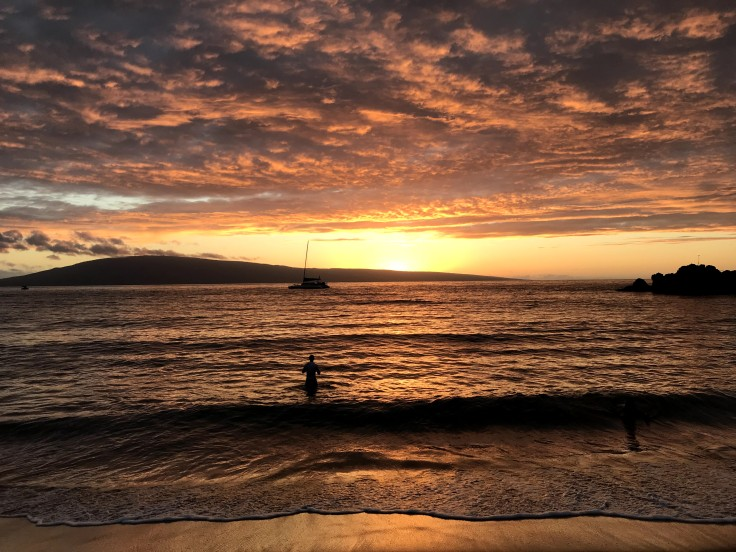 Maui Beach Sunset - Orange