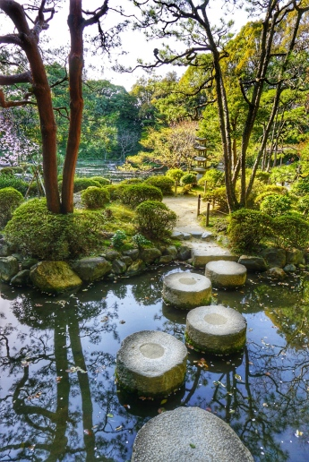 Golden Pavilion Pond Stones