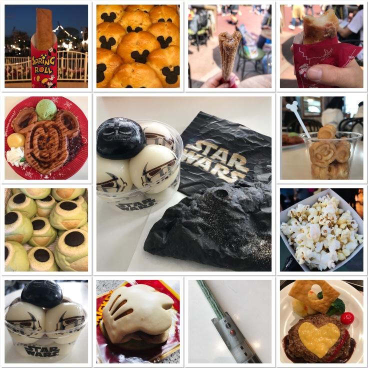 Tokyo Disneyland Food Collage